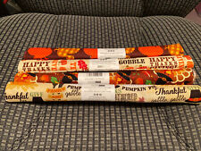Lot Of 4 Thanksgiving Themed Fat Quarters 100% Cotton Quilting Fabric