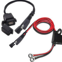 Motorcycle Motorbike 12V SAE to USB Phone GPS Charger Cable Adapter Inline Fuse