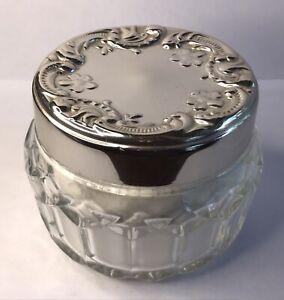 Vintage Avon Talcum Powder Pretty Victorian Style Cut Glass Jar Nice Display