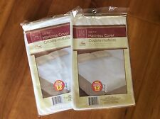 """@ Mattress Covers 2 size full water proof fitted soft plastic 12"""" pocket 54 x 75"""