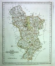 Antique map, Derbyshire ..