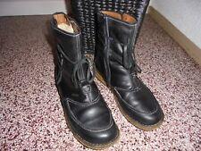 Leder Boots, Stiefeletten, Stiefel Gr. 41 v. Josef Seibel Fb. schwarz