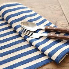 stripe print linen napkin tableware mat