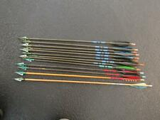 Hunting Arrows Wood Shaft 3-Blade Fixed 28� Long Lot of 13 Used