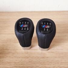 Gear Shift Knob M SPORT PU Leather 6 Speed For BMW 1' 3' E81 E82 E90 E91 E92