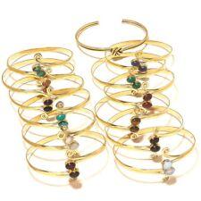 Green Onyx Coral Ruby Brass Cuff Bangel Tibetan Silver Gemstone Jewellery