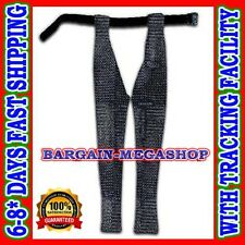 Medieval Chain Mail Leggings Butted Chainmail Chausses Large Blackend Armor