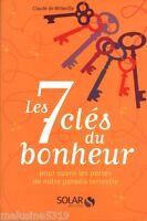 Livre parapsychologie les 7 clés du bonheur pour ouvrir les   book