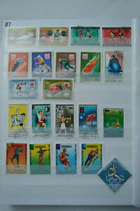 Mongolia Sports Olympic games Montreal Tokyo Insbruk used stamps selection Lot 1