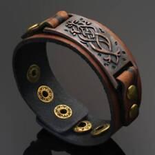 Punk Men Womens Wid Leather Belt Bracelet Cuff Wristband Bangle Accessorites