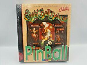 Bally Eight Ball Deluxe Pinball Game Amtex Broderbund MAC Apple Computer VINTAGE