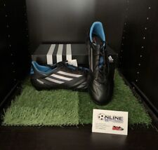 Adidas F50 Adizero TRX FG Leather - Black/White/Blue UK 8.5, US 9, EU 42 (2/3)
