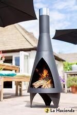 La Hacienda Colorado black steel chimenea - medium - 56087B