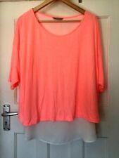 MARKS AND SPENCER COLLECTION NEON PINK/WHITE TOP/BLOUSE SIZE 24 PLUS SIZE ♡♡♡