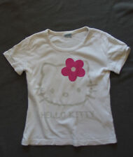 T-shirt manches courtes blanc Hello Kitty - Taille S 10 à 12 ans
