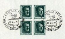 Deutsches Reich Bl.8 SST BERLIN 18.4.1937 AUSSTELLUNG ME 30,-++ (136973)