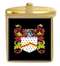 Maling England Familie Wappen Heraldik Manschettenknöpfe Schachtel Set Graviert