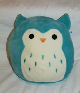 "KELLYTOY Squishmallow 5"" WINSTON THE OWL! Teal Mini Plush 2019 So cute 'n soft!"