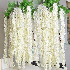 e-Joy Realistic Artificial Silk Wisteria Vine Ratta Silk Hanging Flower Plant 12