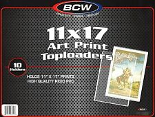 10 Bcw 11X17 Art Print Toploader with 10 Poly Sleeves Poster Menu