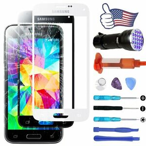 For Samsung Galaxy S5 Outer Screen Glass Lens Replacement Kit UV(LOCA) Glue AT&T