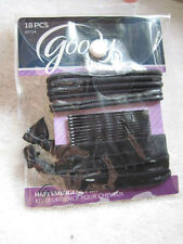 18 Goody Black Hair Emergency Kit Bobby Pins Ouchless Ribbon Elastics Pouch Prep