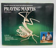 Vintage 3D wooden skeleton kit Safari Ltd Praying Mantis 1989. New!