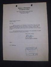 Original  ' G-Man Document '..1935..' Bonnie & Clyde '..Harboring Arrest