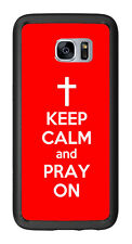 Red Keep Calm and Pray On For Samsung Galaxy S7 Edge G935 Case Cover by Atomic M