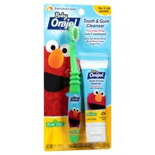 Baby Orajel Elmo Sesame Street Bright Banana Apple 1 oz Cleanser + Toothbrush
