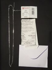 14K Solid White Gold Chain from Russia, 50 cm / 19.7 in, 9.78 grams, RRP $1185