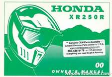31KCE640 2000 Honda XR250R Motorcycle Owners Manual