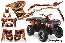 AMR Racing Polaris Sportsman800/500 Graphic Kit Quad Wrap ATV Decal 11-15 FS RED