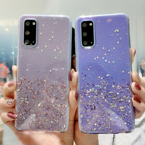 Glitter Case For Huawei P40 Lite P30 Pro P20 P Smart Clear Gel Soft Phone Cover