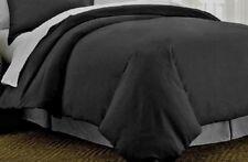 Bella Russo 3 Pc Storm Gray Queen Bedding Set w Duvet Cover & 2 Shams w Buttons