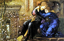 Old Masters reprint (v1f76) Love among the Ruins 1894 by E. Coley Burne-Jones