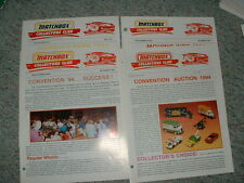 Matchbox Collectors Club Newsletter Magazine Issues 1-4 1994