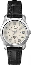 TIMEX T2N435 Women's Sport Chic Leather Strap White Black