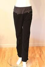 Paige Premium Denim Benedict Canyon MATERNITY Black Corduroy Jeans Pants 31