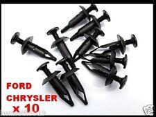 FORD CHRYSLER Universal Push-Type Panel Trim  Black Plastic Fastener Clip T40