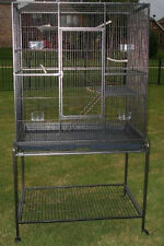 New Large Wrought Iron Flight Canary Bird Cage With Removable Rolling Stand-279