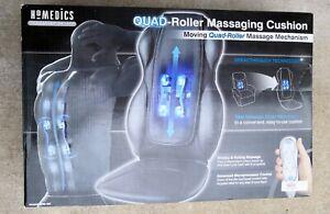 HoMedics QRM-400 Quad Roller Massaging Cushion w Traveling Shiatsu Massager