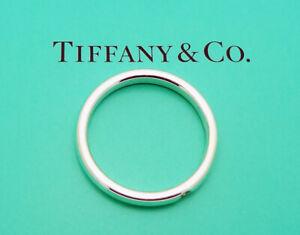 Estate Tiffany & Co. Elsa Peretti Sterling Silver Diamond Band Ring Size 7.5