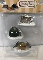 NEW Lemax Rascal Raccoons 3 Pc Misch Figurine Accessory Christmas Village