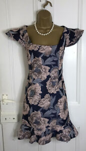 CHI CHI Navy And Pink Floral Dress Size 16 Wedding,cocktail Party ,cruise