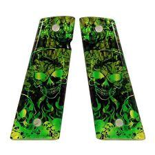 Custom 1911 Magwell ambi & non-ambi fit SPD Acrylic Grips Purgatory Green