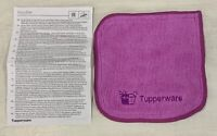 Tupperware Microfiber Multi Towel In Mulberry with Embroidered Logo Dual Sided