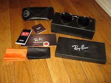 New Old Stock Ray Ban Sunglasses Round Style 100 % UV Protection Gold tone