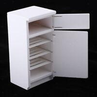 Miniatur Holz Kühlschrank Haushaltsgeräte für 1/12 Puppenstuben Wohnzimmer /