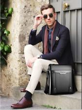 Business Messenger Bag Satchel Shoulder Crossbody Leather Working Bags Briefcase